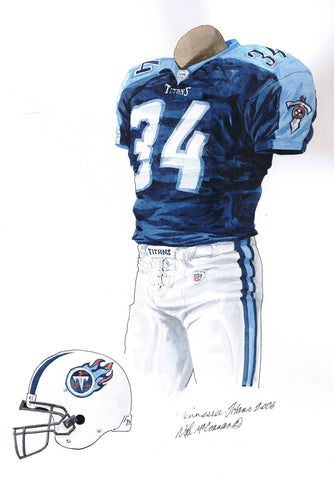 Tennessee Titans 2006 - Heritage Sports Art - original watercolor artwork - 1