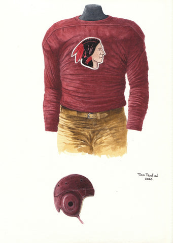 Washington Redskins 1933 - Heritage Sports Art - original watercolor artwork - 1