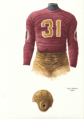 Washington Redskins 1937 - Heritage Sports Art - original watercolor artwork - 1