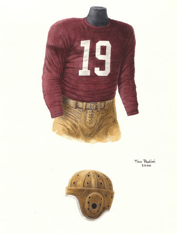 Washington Redskins 1942 - Heritage Sports Art - original watercolor artwork - 1