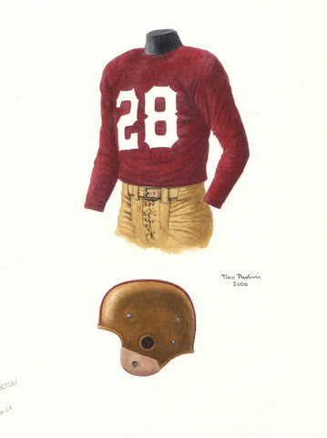 Washington Redskins 1948 - Heritage Sports Art - original watercolor artwork - 1