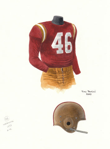 Washington Redskins 1956 - Heritage Sports Art - original watercolor artwork - 1