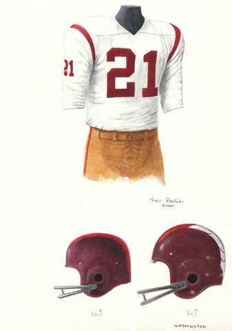 Washington Redskins 1962 - Heritage Sports Art - original watercolor artwork - 1