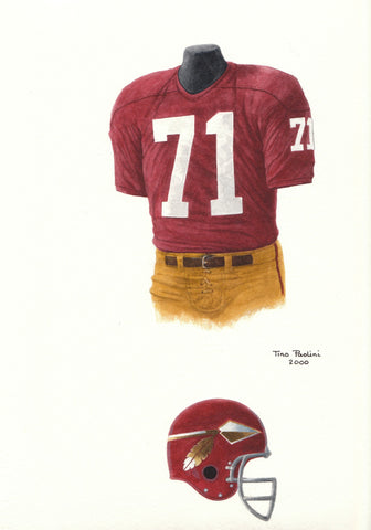 Washington Redskins 1966 - Heritage Sports Art - original watercolor artwork - 1