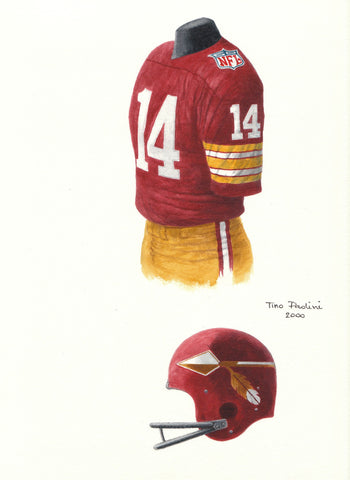 Washington Redskins 1969 - Heritage Sports Art - original watercolor artwork - 1