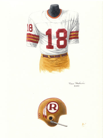 Washington Redskins 1970 - Heritage Sports Art - original watercolor artwork - 1