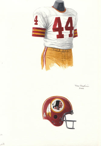 Washington Redskins 1973 - Heritage Sports Art - original watercolor artwork - 1