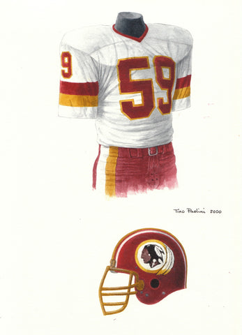 Washington Redskins 1982 - Heritage Sports Art - original watercolor artwork - 1