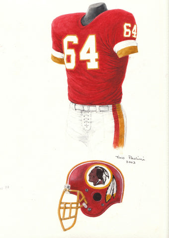 Washington Redskins 1987 - Heritage Sports Art - original watercolor artwork - 1