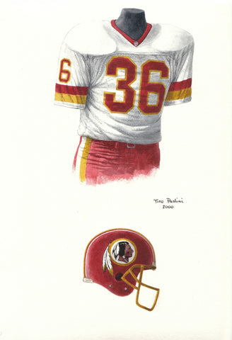 Washington Redskins 1991 - Heritage Sports Art - original watercolor artwork - 1