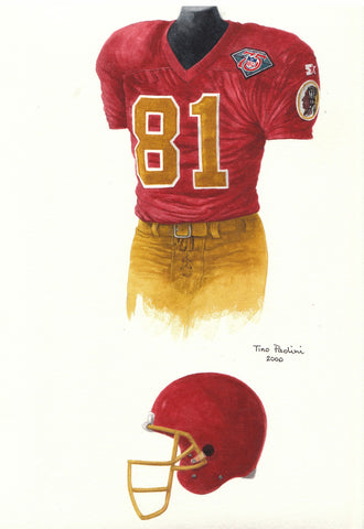 Washington Redskins 1994 - Heritage Sports Art - original watercolor artwork - 1