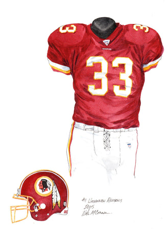 Washington Redskins 2005 - Heritage Sports Art - original watercolor artwork - 1