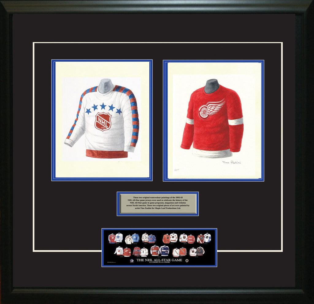 82ffd945144 NHL NHL All-Star 1955-56 uniform and jersey original art – Heritage Sports  Art