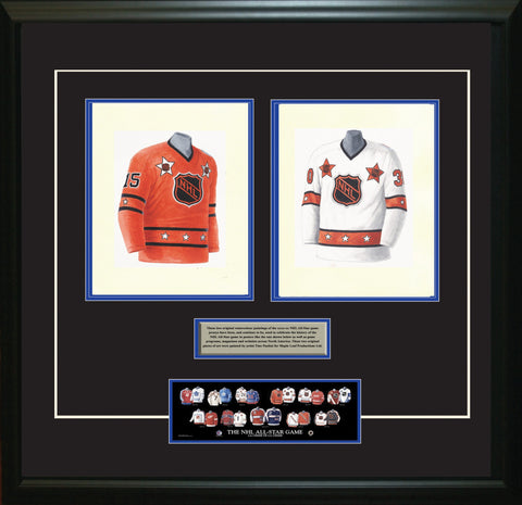 NHL All-Star 1975-76 White + Orange - Heritage Sports Art - original watercolor artwork