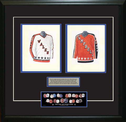 NHL All-Star 1985-86 White + Orange - Heritage Sports Art - original watercolor artwork