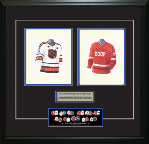 NHL All-Star 1986-87 White + Red - Heritage Sports Art - original watercolor artwork