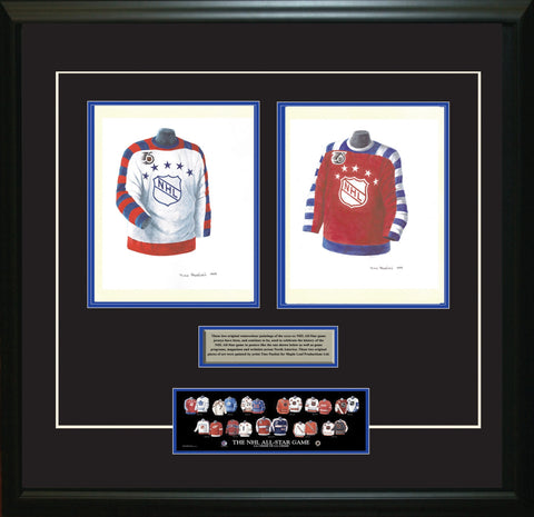 NHL All-Star 1991-92 White + Red - Heritage Sports Art - original watercolor artwork