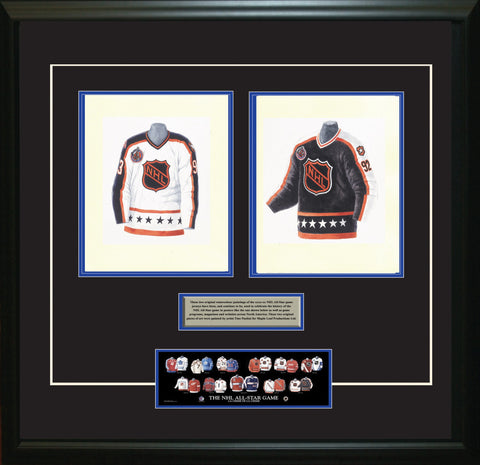 NHL All-Star 1992-93 White + Black - Heritage Sports Art - original watercolor artwork