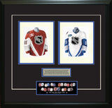 NHL All-Star 1997-98 White + Maroon - Heritage Sports Art - original watercolor artwork