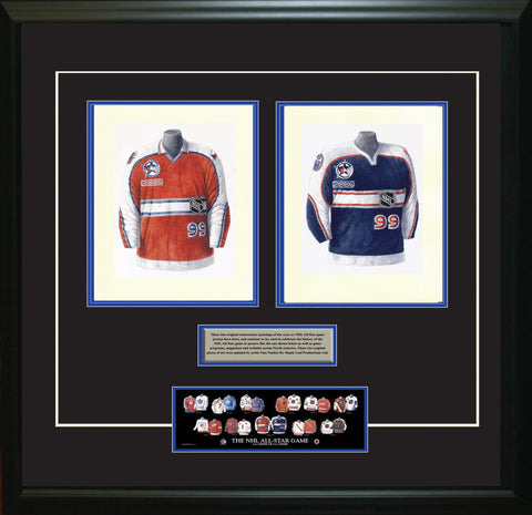 NHL All-Star 1999-2000 Red + Blue - Heritage Sports Art - original watercolor artwork