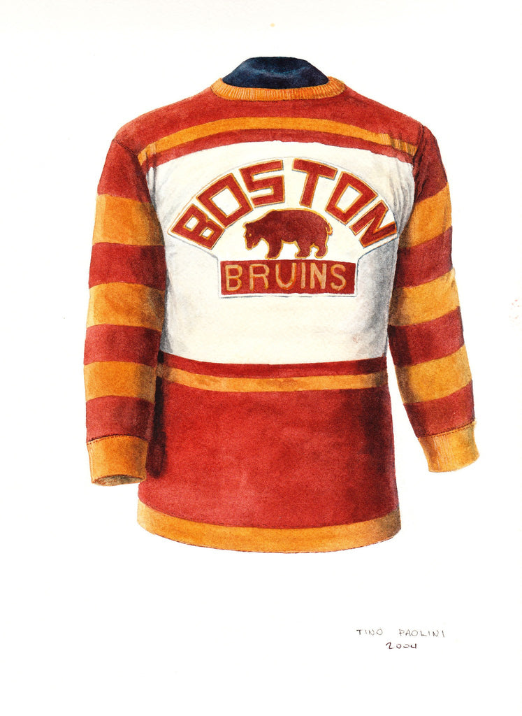 bd1c96a89 NHL Boston Bruins 1928-29 uniform and jersey original art – Heritage Sports  Art