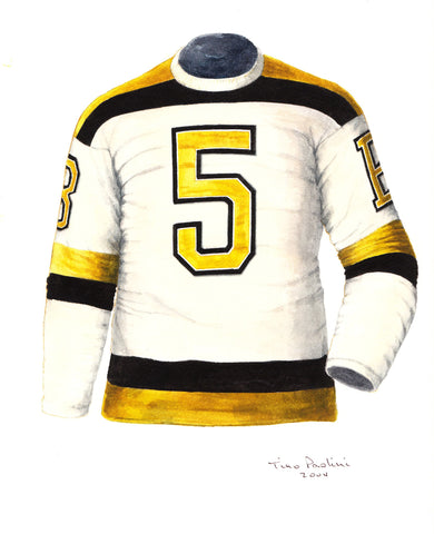 Boston Bruins 1940-41 - Heritage Sports Art - original watercolor artwork - 1