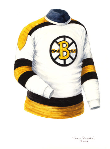 Boston Bruins 1948-49 - Heritage Sports Art - original watercolor artwork - 1
