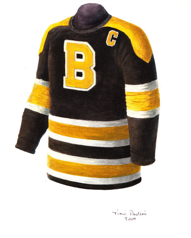 Boston Bruins 1953-54 - Heritage Sports Art - original watercolor artwork - 1