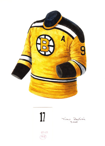 Boston Bruins 1962-63 - Heritage Sports Art - original watercolor artwork - 1