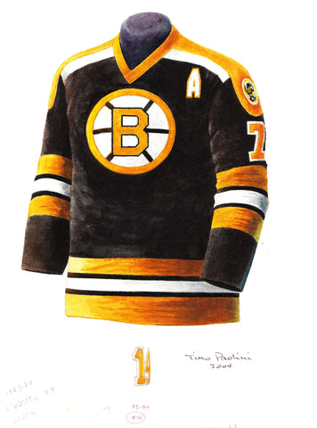 Boston Bruins 1973-74 - Heritage Sports Art - original watercolor artwork - 1