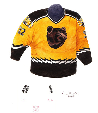 Boston Bruins 1996-97 - Heritage Sports Art - original watercolor artwork - 1