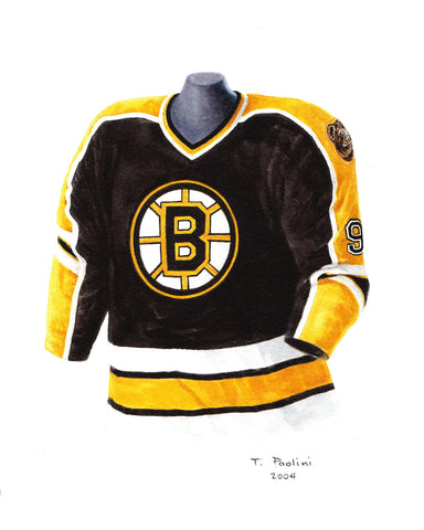 Boston Bruins 2003-04 - Heritage Sports Art - original watercolor artwork - 1