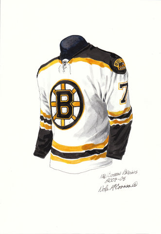 Boston Bruins 2007-08 - Heritage Sports Art - original watercolor artwork - 1