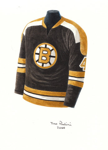 Bobby Orr 1971-72 Bruins - Heritage Sports Art - original watercolor artwork - 1