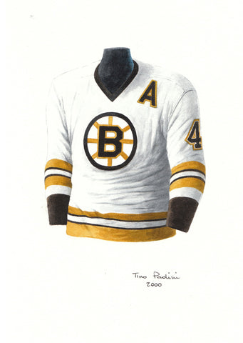 Bobby Orr 1975-76 - Heritage Sports Art - original watercolor artwork - 1