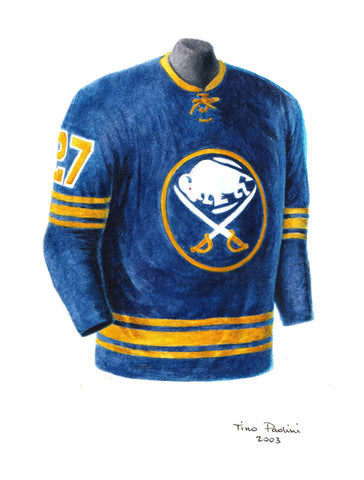 Buffalo Sabres 1970-71 - Heritage Sports Art - original watercolor artwork - 1