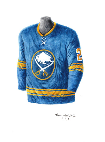 Buffalo Sabres 1974-75 - Heritage Sports Art - original watercolor artwork - 1