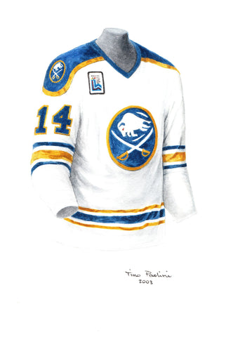 Buffalo Sabres 1979-80 - Heritage Sports Art - original watercolor artwork - 1