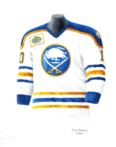Buffalo Sabres 1989-90 - Heritage Sports Art - original watercolor artwork - 1