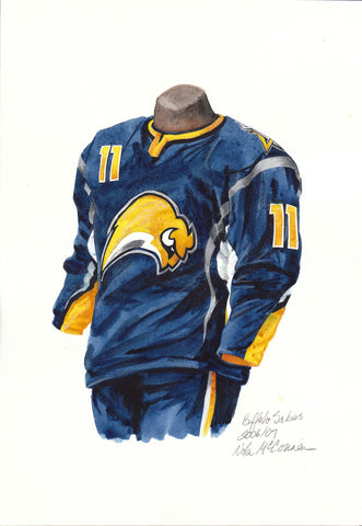 Buffalo Sabres 2006-07 - Heritage Sports Art - original watercolor artwork - 1