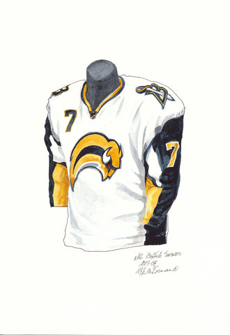 Buffalo Sabres 2007-08 - Heritage Sports Art - original watercolor artwork - 1