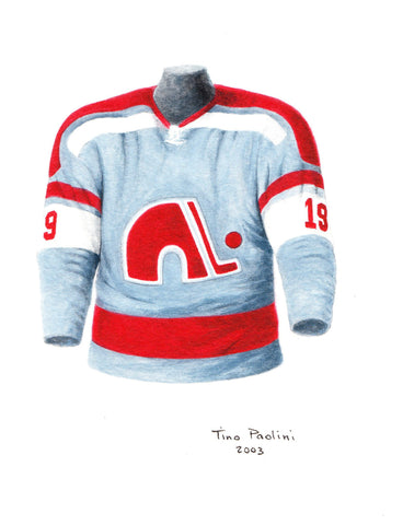 Colorado Avalanche 1972-73 Blue - Heritage Sports Art - original watercolor artwork - 1