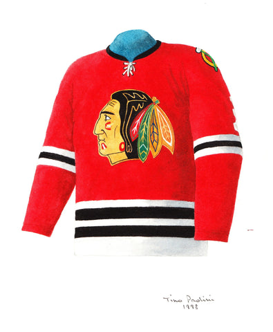Chicago Blackhawks 1962-63 - Heritage Sports Art - original watercolor artwork - 1