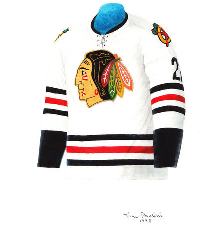 Chicago Blackhawks 1963-64 - Heritage Sports Art - original watercolor artwork - 1