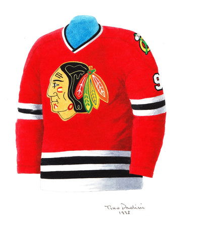 Chicago Blackhawks 1972-73 - Heritage Sports Art - original watercolor artwork - 1