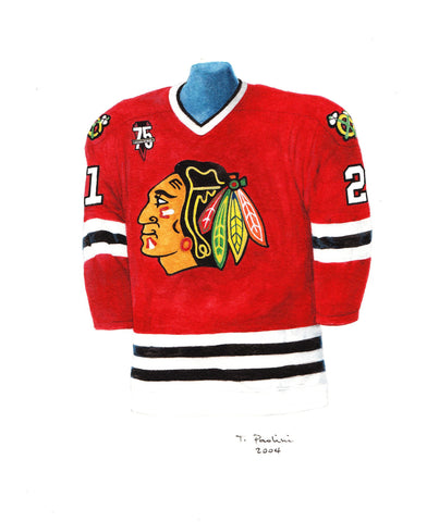 Chicago Blackhawks 2000-01 - Heritage Sports Art - original watercolor artwork - 1