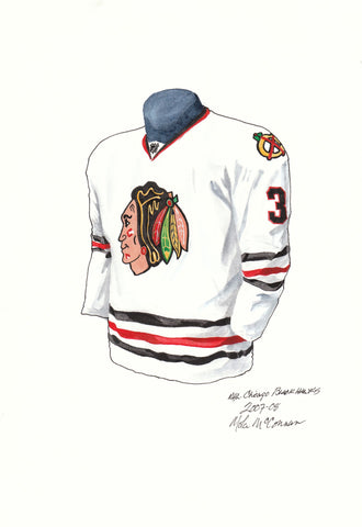 Chicago Blackhawks 2007-08 - Heritage Sports Art - original watercolor artwork - 1