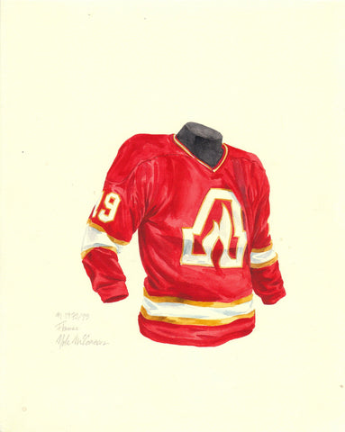 Calgary Flames 1972-73 - Heritage Sports Art - original watercolor artwork - 1