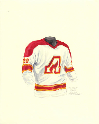 Calgary Flames 1976-77 - Heritage Sports Art - original watercolor artwork - 1