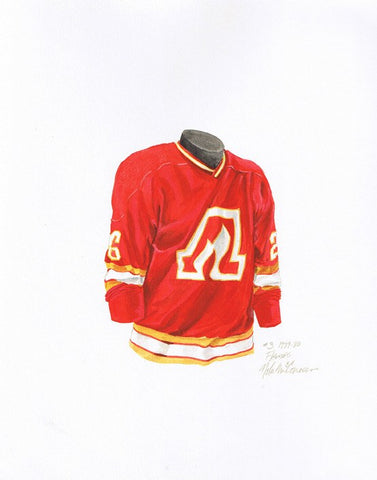 Calgary Flames 1979-80 - Heritage Sports Art - original watercolor artwork - 1